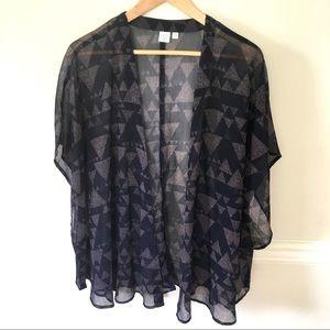 BP navy kimono.